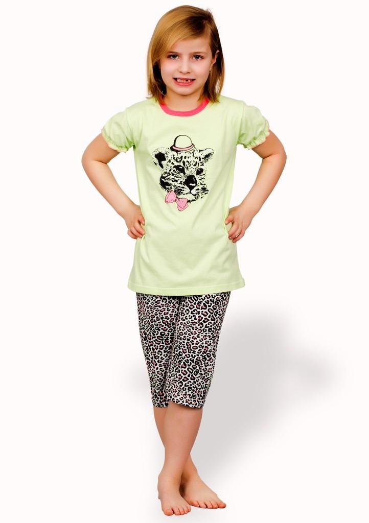 Dětské pyžamo s obrázkem geparda a capri kalhotami