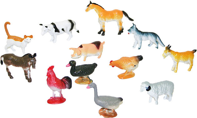 Zvířata domácí 12 ks v sáčku