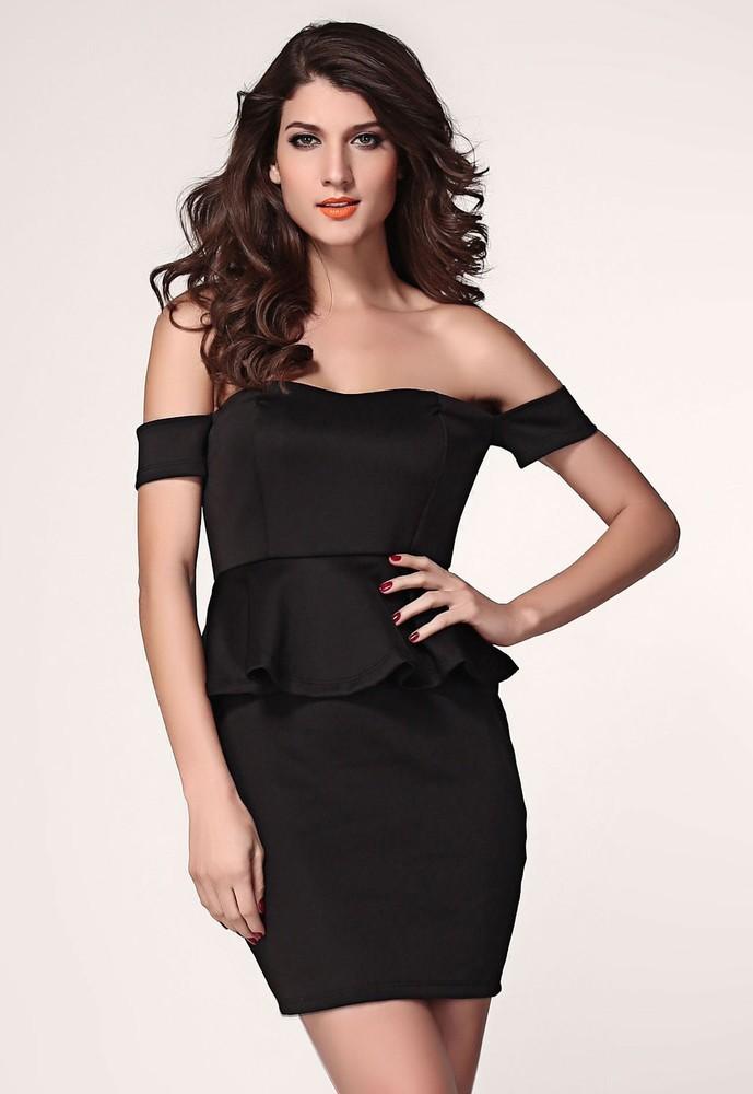 Elegantní šaty d-sat303bl