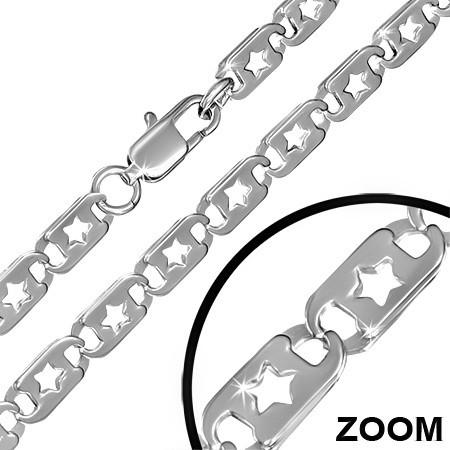 Řetízky z chirurgické oceli - 55cm/1cm  th-chz213