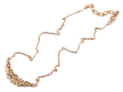 Kovový náhrdelník s růžičkou (1 ks)