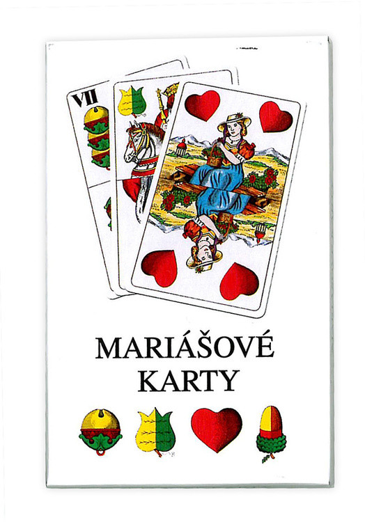 Karty mariášové dvouhlavé papírová krabi