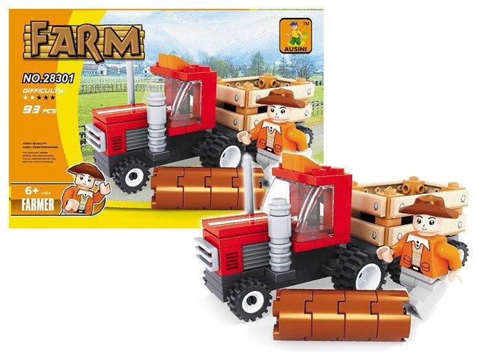 Stavebnice farma traktor, 93 dílů