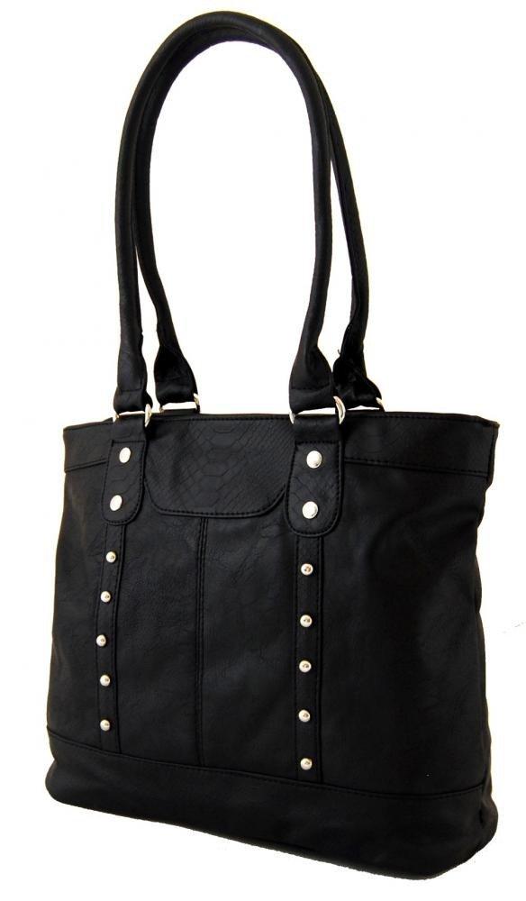 Zdobená kroko kabelka na rameno BH148 černá