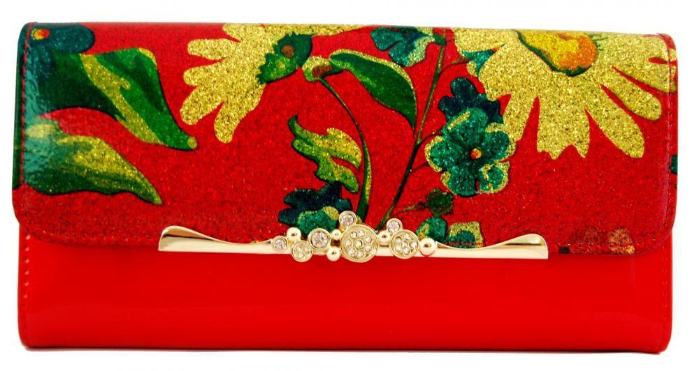 Dámská polokožená peněženka Cossroll G04-9303 červená