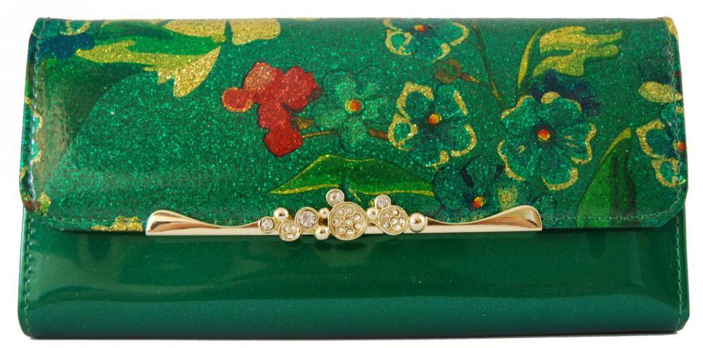 Dámská polokožená peněženka Cossroll G04-9303 zelená