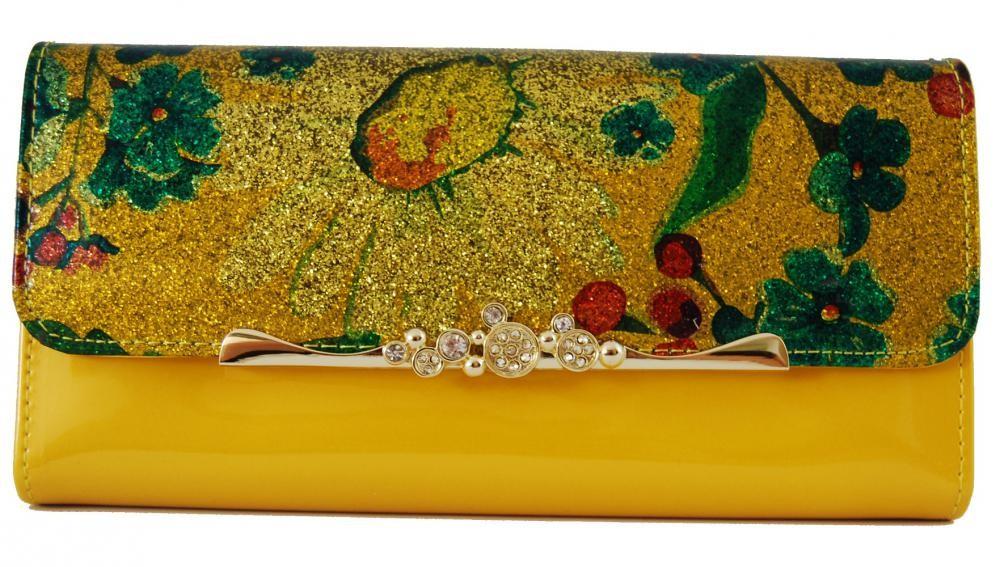 Dámská polokožená peněženka Cossroll G04-9303 žlutá
