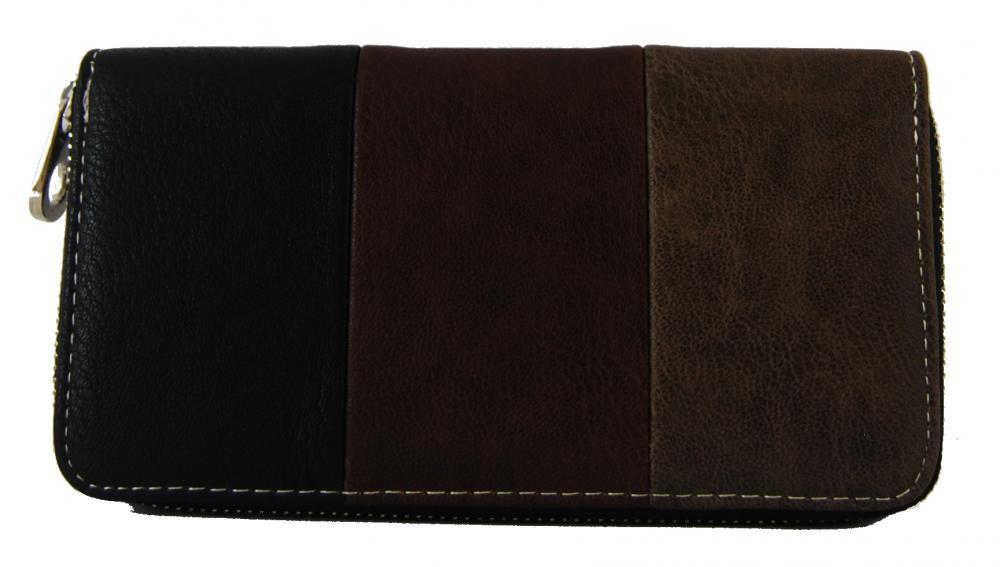 Praktická dámská zipová peněženka černá FD-005