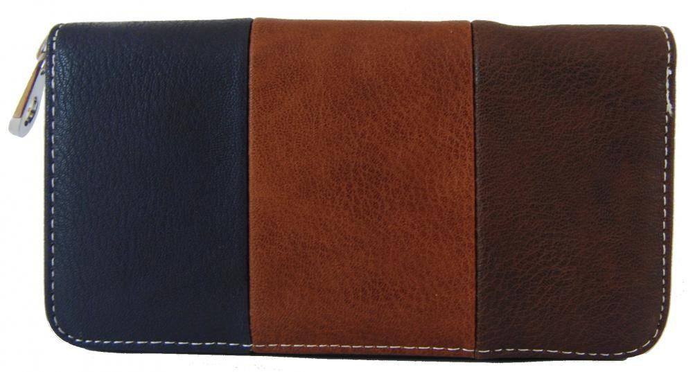 Praktická dámská zipová peněženka modrá FD-005