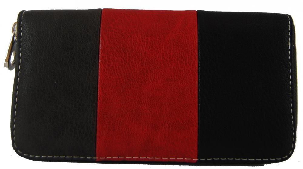 Praktická dámská zipová peněženka šedá FD-005