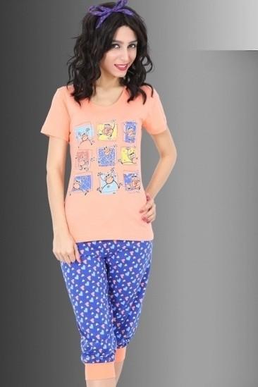 Bavlněné pyžamo Veselá žabka