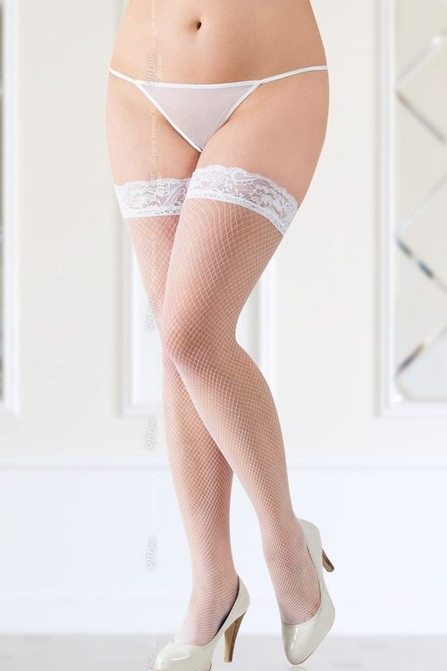 Samodržící punčochy 5517 XL white