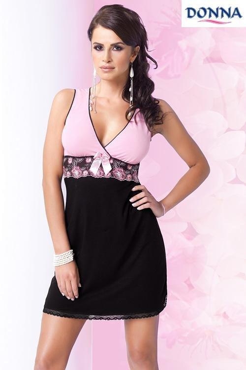 Noční košilka Donna Nina black-old pink