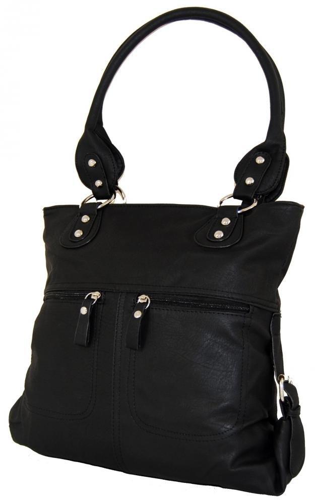 Větší kabelka na rameno BH161 černá