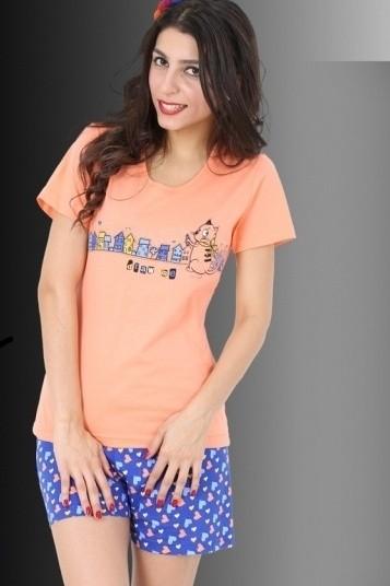 Bavlněné dámské pyžamo Draw me