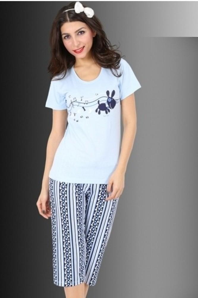 Bavlněné dámské pyžamo Step notes