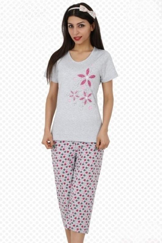 Bavlněné dámské pyžamo Orchidea