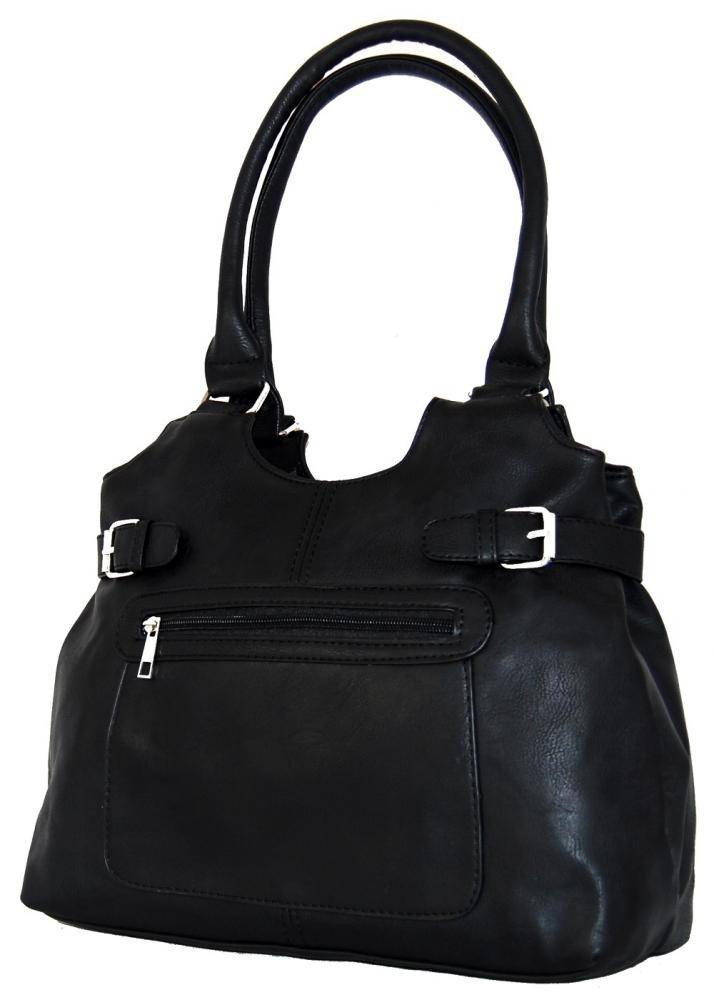 Střední kabelka na rameno H0324 černá
