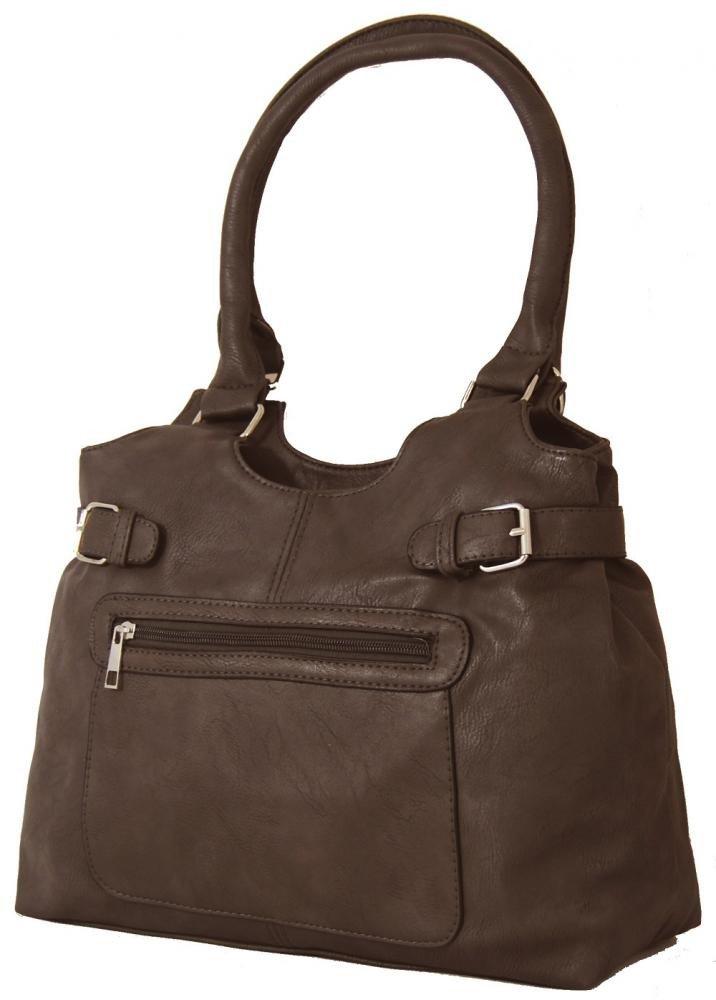 Střední kabelka na rameno H0324 přírodní hnědá