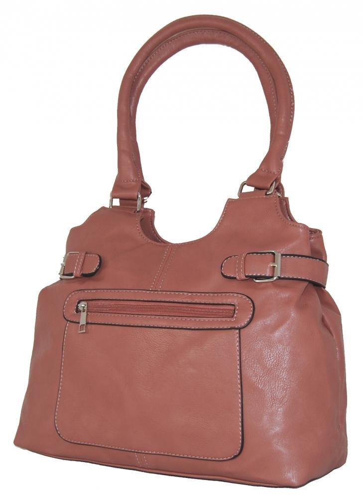 Střední kabelka na rameno H0324 starorůžová