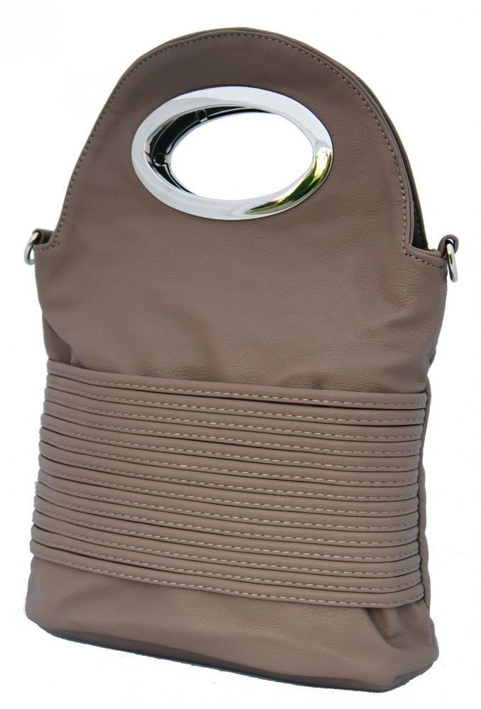 Malá kabelka do ruky / crossbody 310 šedo-hnědá
