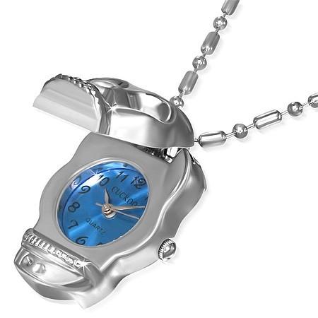 Ocelový přívěsek hodinky th-nwf128