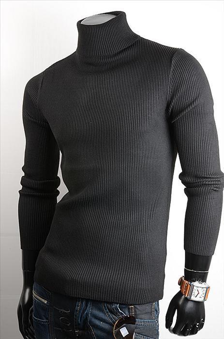 Pánský svetr s rolákem p-sv07bl