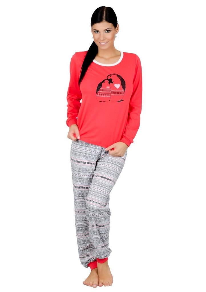 Dámské pyžamo s obrázkem tučňáků