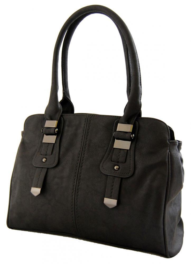 Dámská kabelka na rameno 804 tmavě šedá