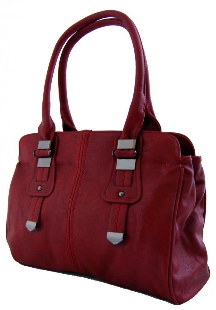 Dámská kabelka na rameno 804 červeno-vínová