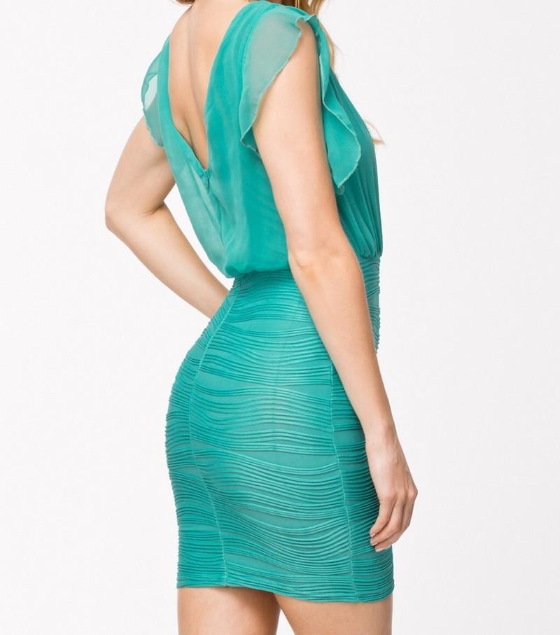 Mentolové šaty d-sat331me