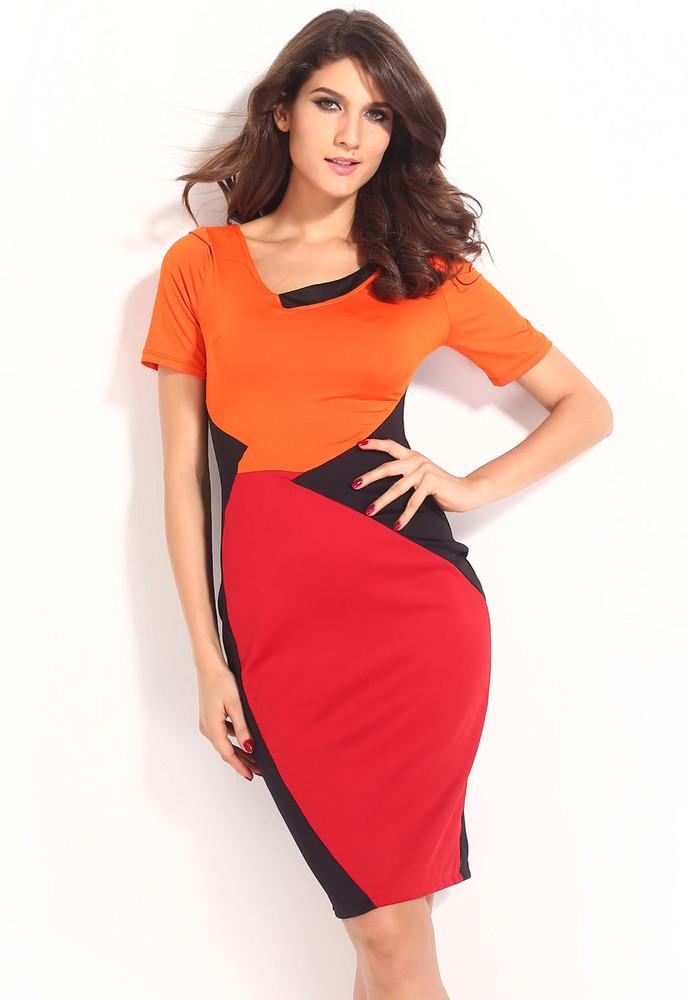 Barevné dámské šaty d-sat350