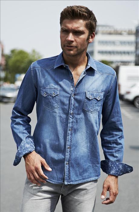 Džínová pánská košile cp-ko13