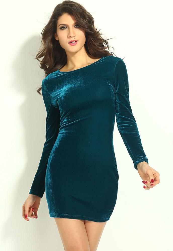 Sametové šaty d-sat353