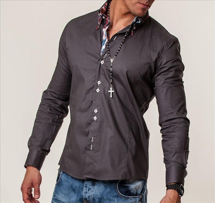 Šedá pánská košile cp-ko01gr