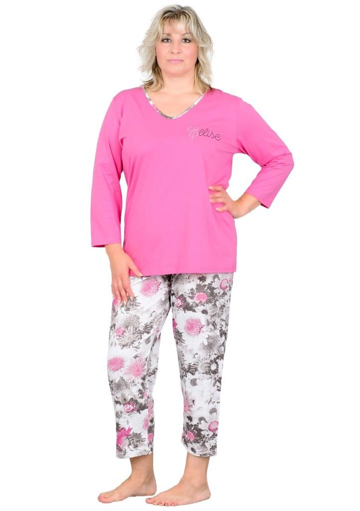Dámské pyžamo nadměrné velikosti s nápisem Ellise