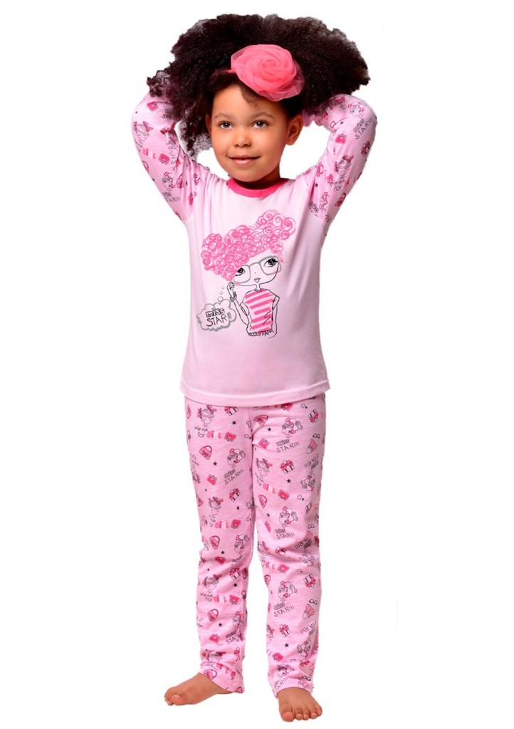 Dětské pyžamo s obrázkem dívky Miss star