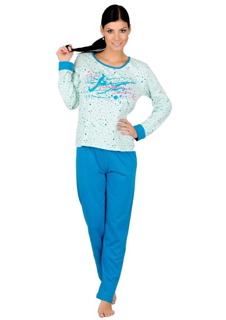 Dámské pyžamo se vzorem barevných skvrn
