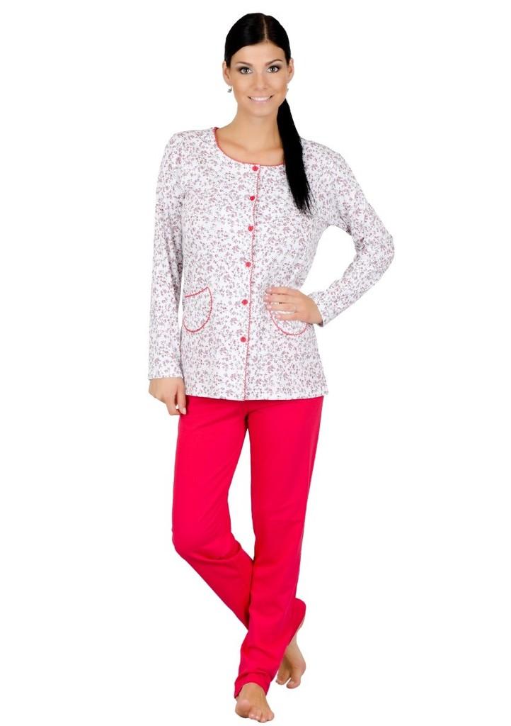 Dámské propínací pyžamo s kapsami