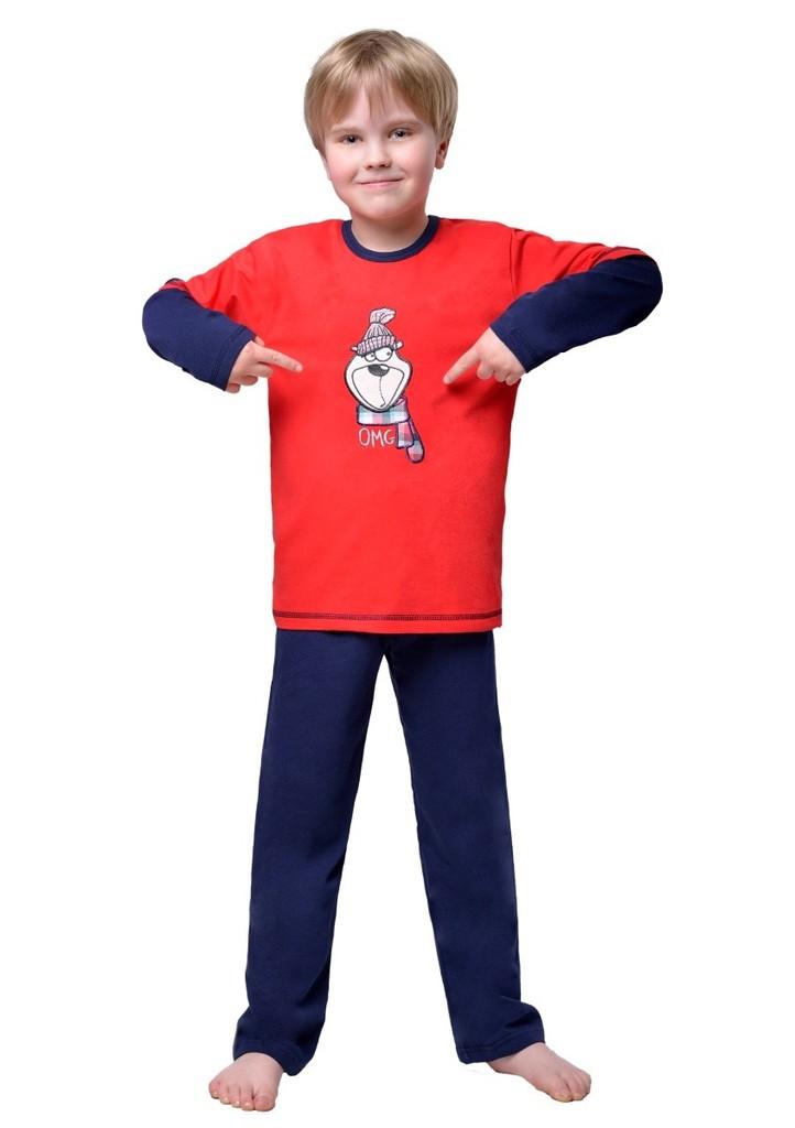 Dětské pyžamo s obrázkem medvěda v čepici
