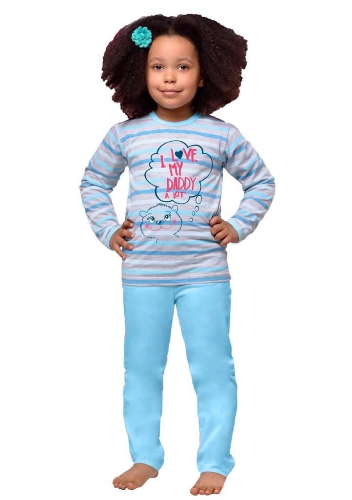 Dětské pyžamo s nápisem I love my daddy