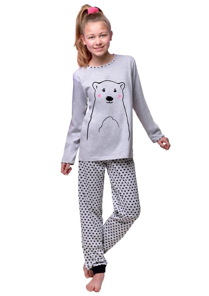 Dívčí pyžamo s obrázkem medvěda