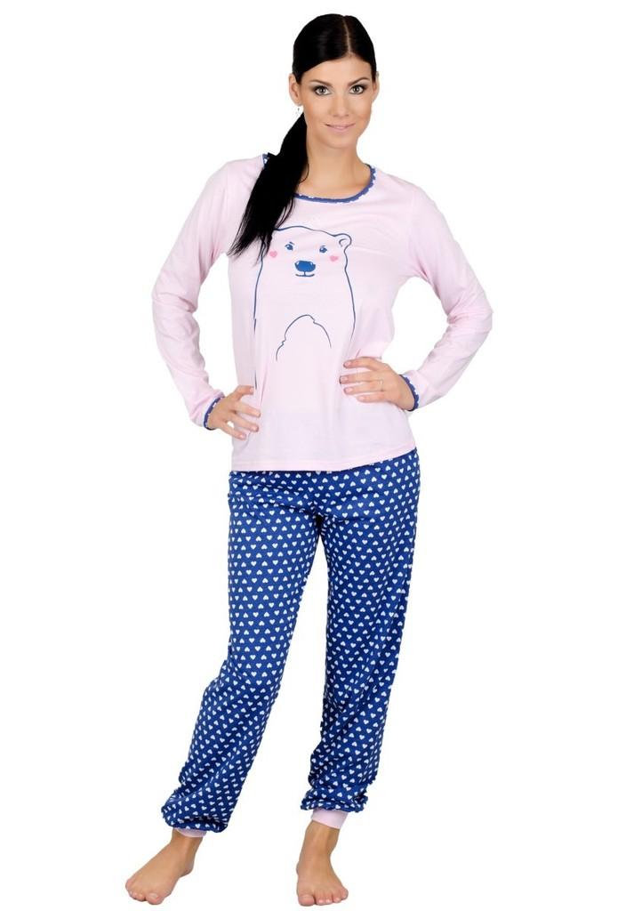Dámské pyžamo s obrázkem medvěda