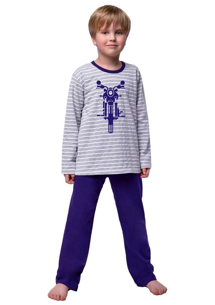 Chlapecké pyžamo s obrázkem motorky