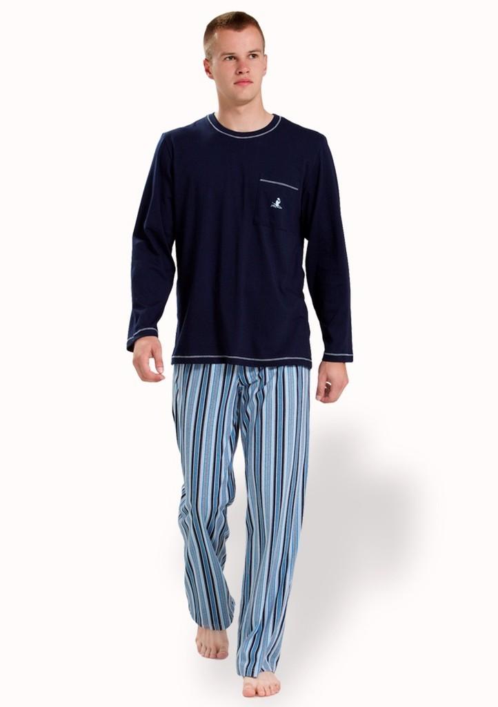 Pánské pyžamo s kalhotami se vzorem proužku