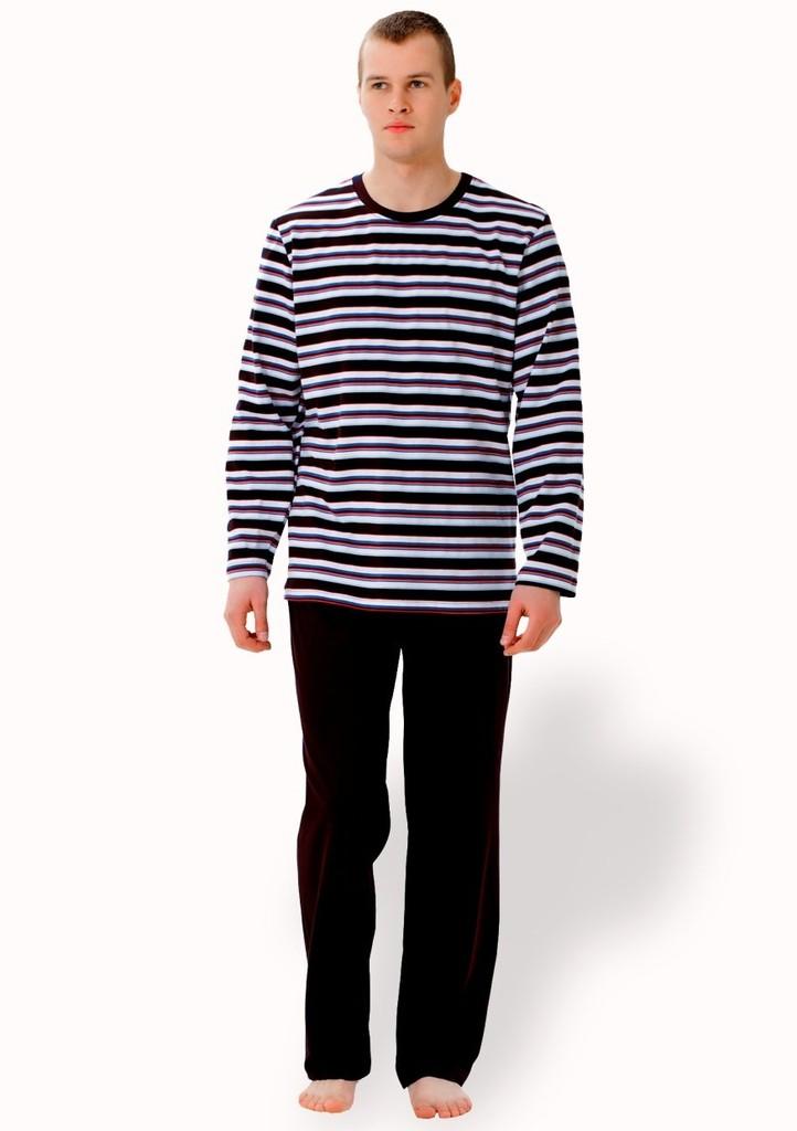 Pánské pyžamo se vzorem pruhu