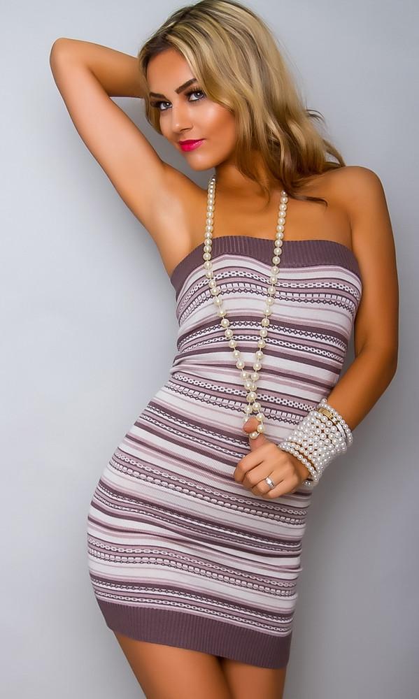 Přízové dámské šaty y-sa045hn