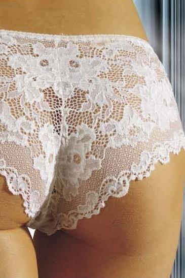 Bavlněné kalhotky brazilky 65 bílé