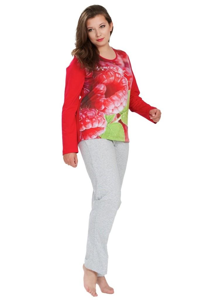 Dámské pyžamo s obrázkem maliny
