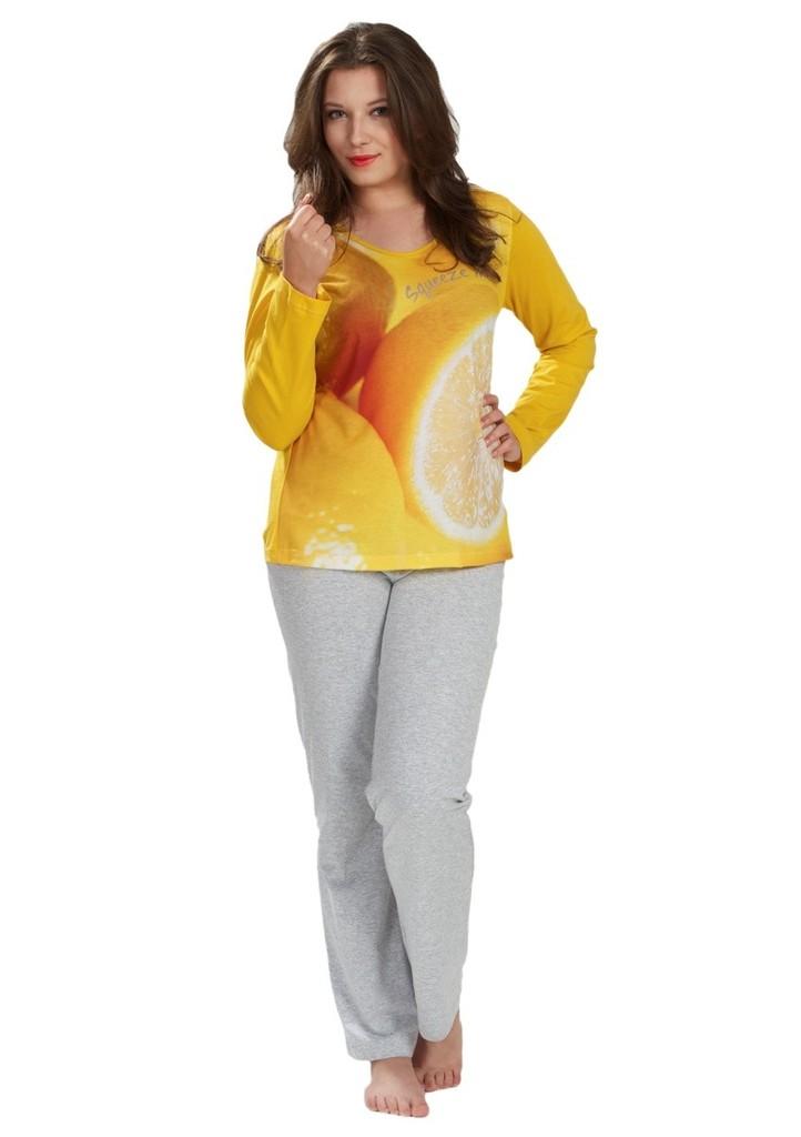 Dámské pyžamo s obrázkem citronu